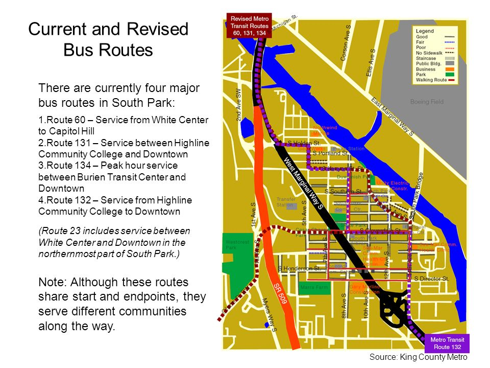 Current and Revised Bus Routes