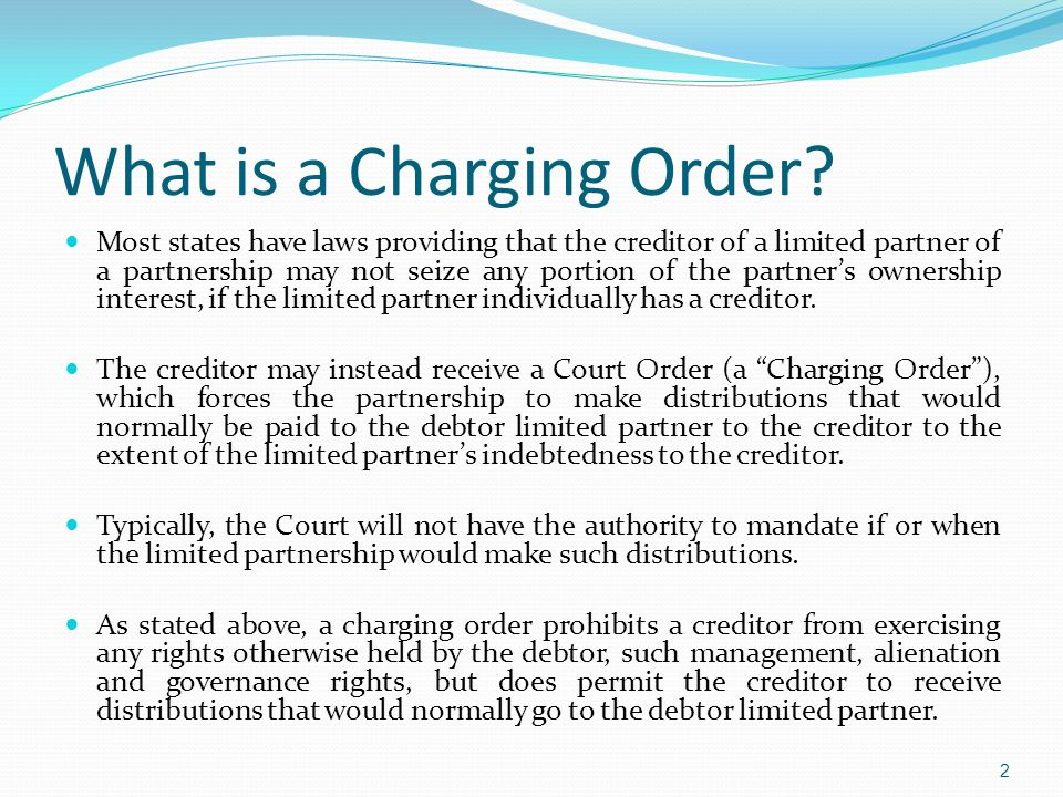 What is a Charging Order