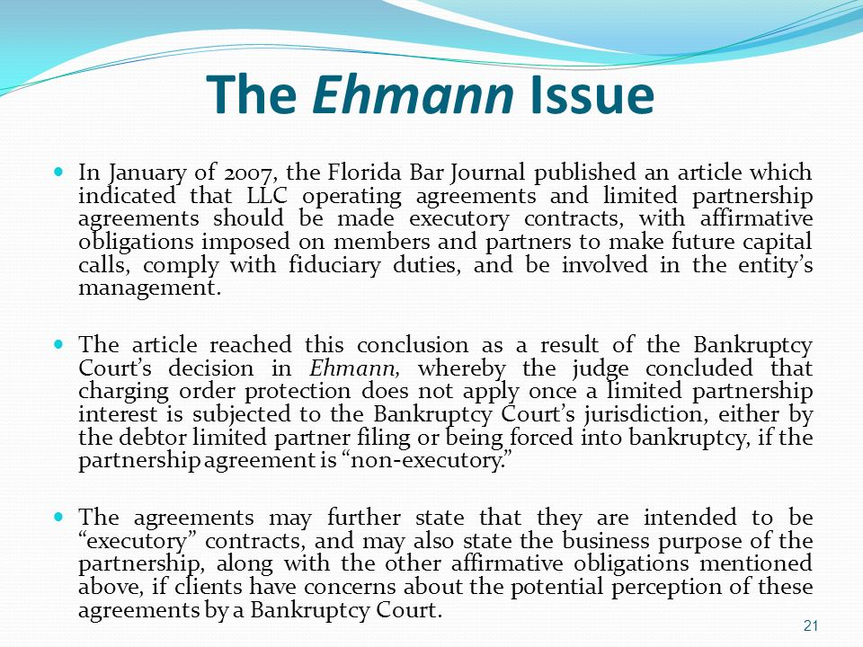 The Ehmann Issue