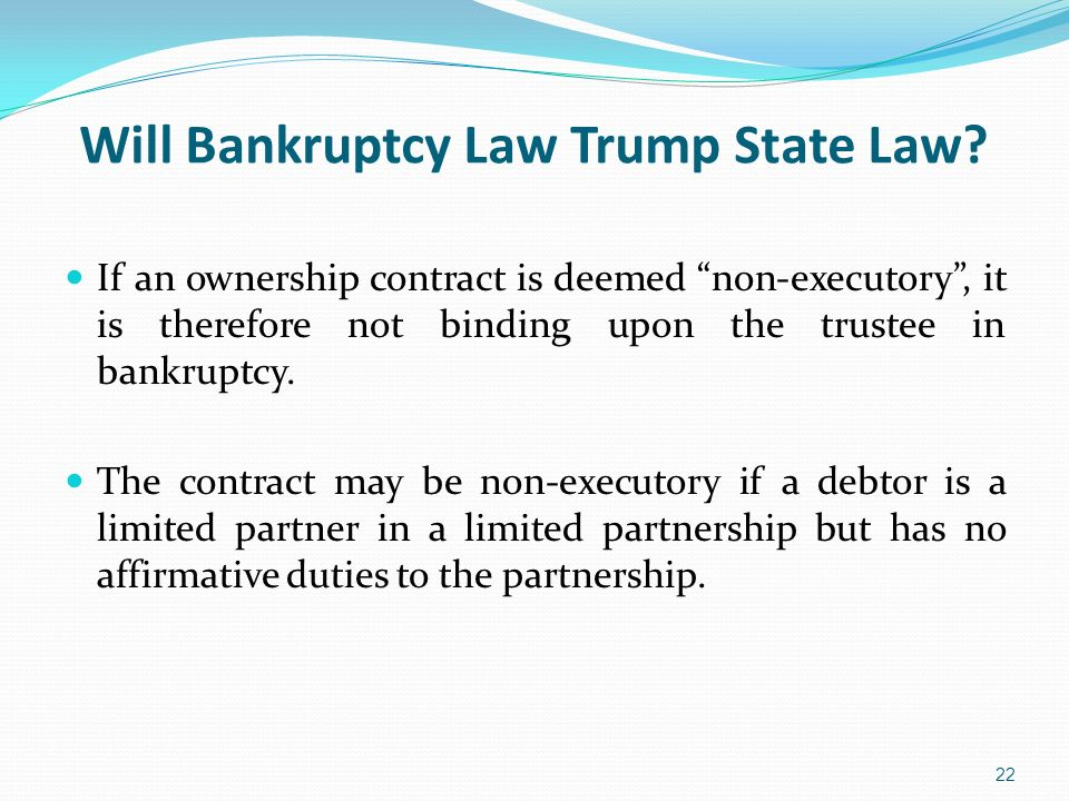 Will Bankruptcy Law Trump State Law