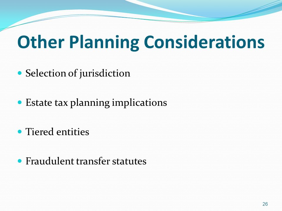 Other Planning Considerations