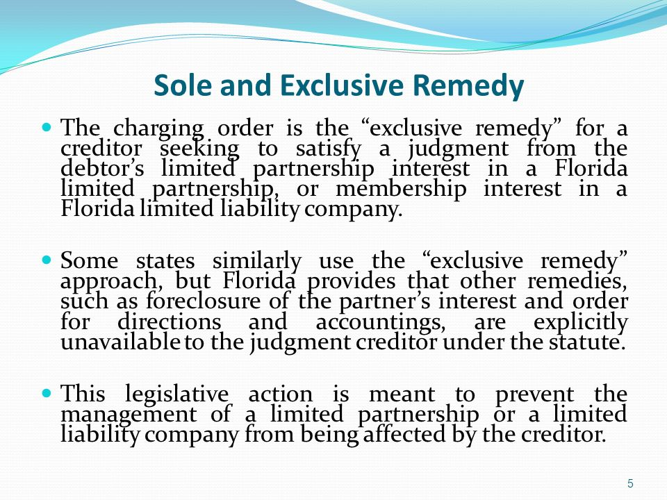 Sole and Exclusive Remedy