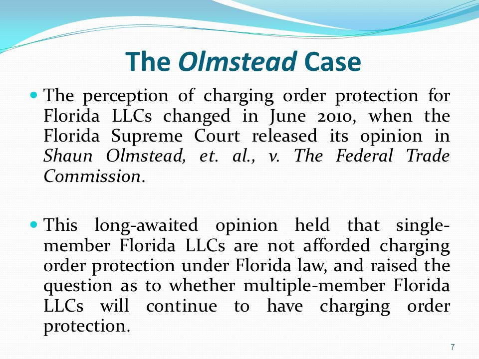The Olmstead Case