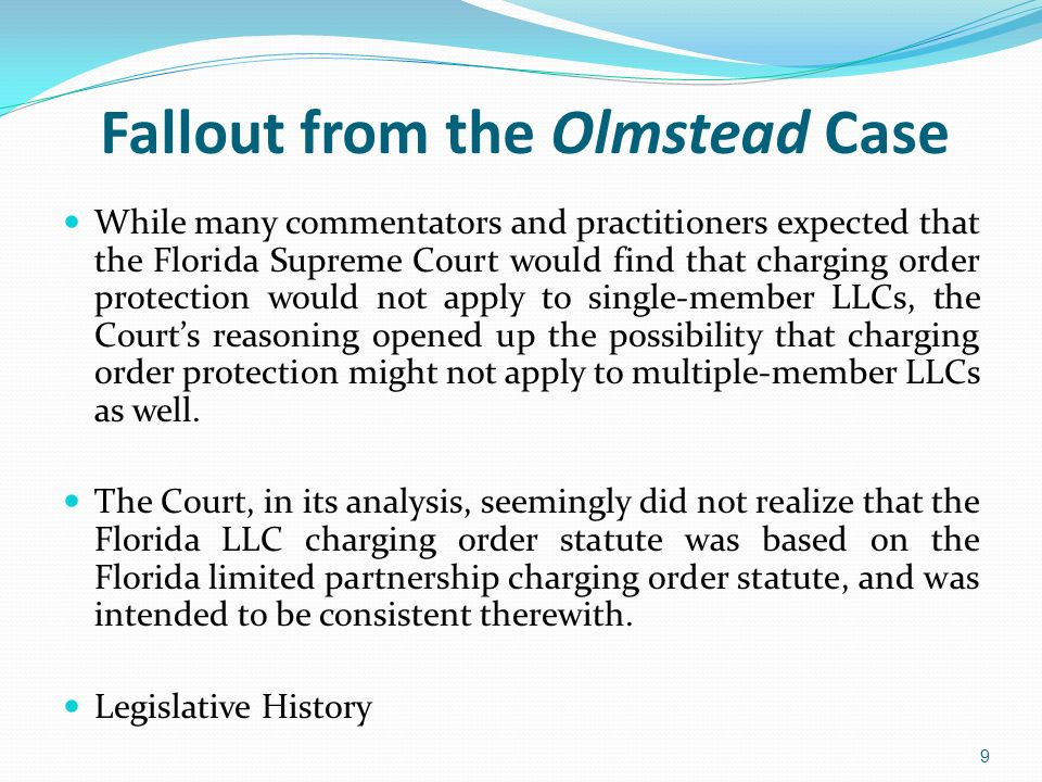 Fallout from the Olmstead Case