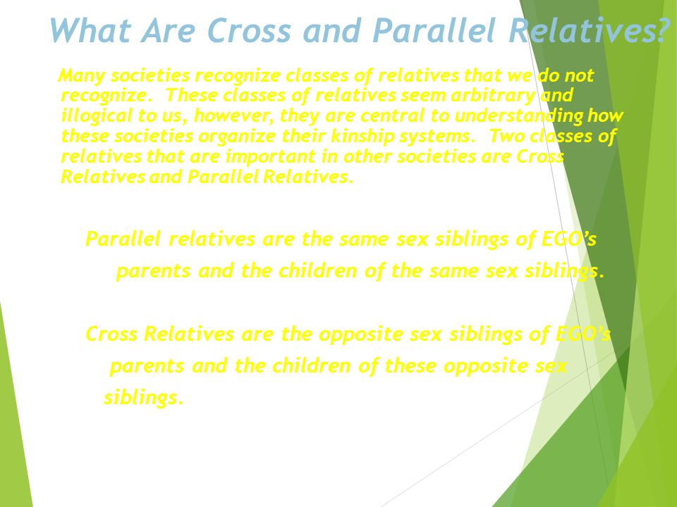 What Are Cross and Parallel Relatives
