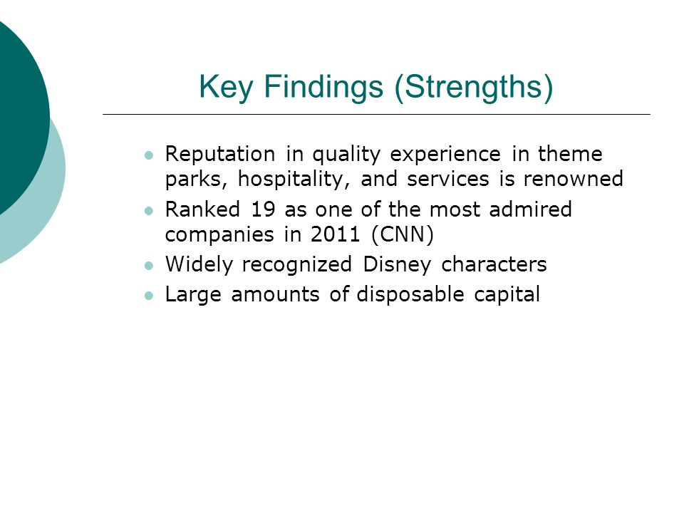 Key Findings (Strengths)