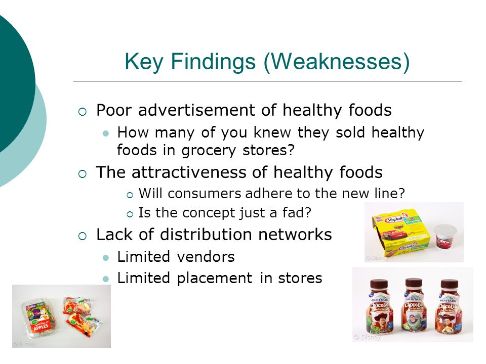 Key Findings (Weaknesses)