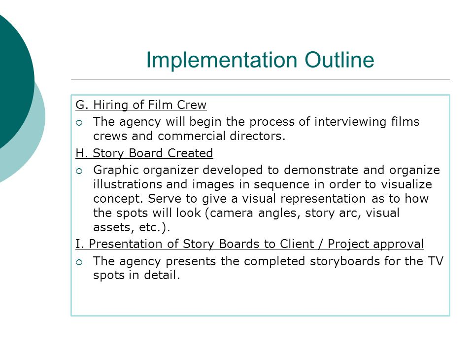Implementation Outline