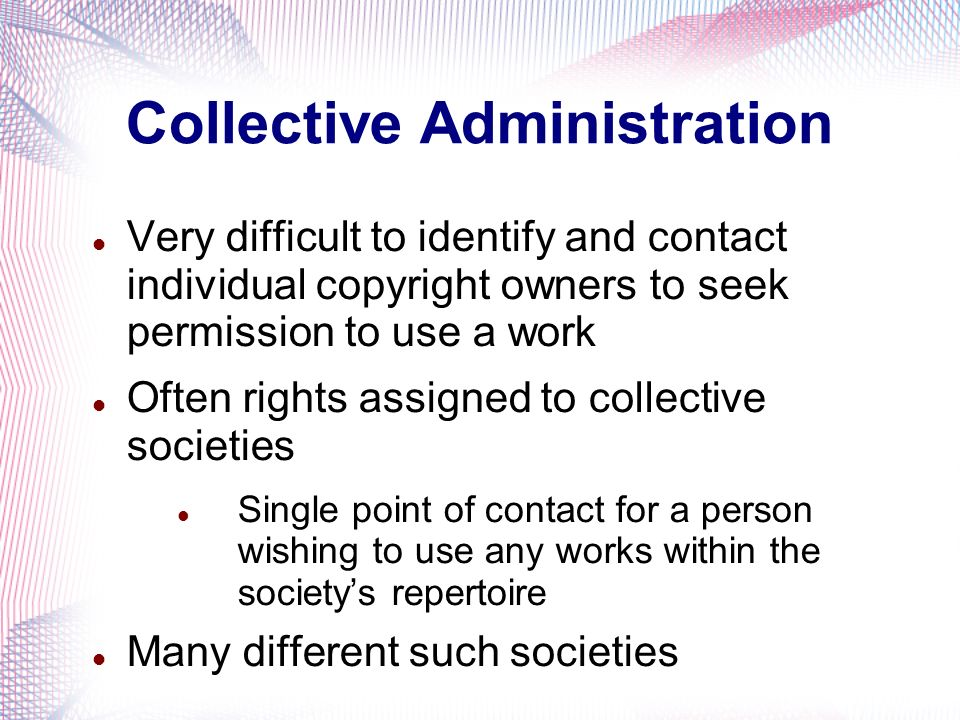 Collective Administration