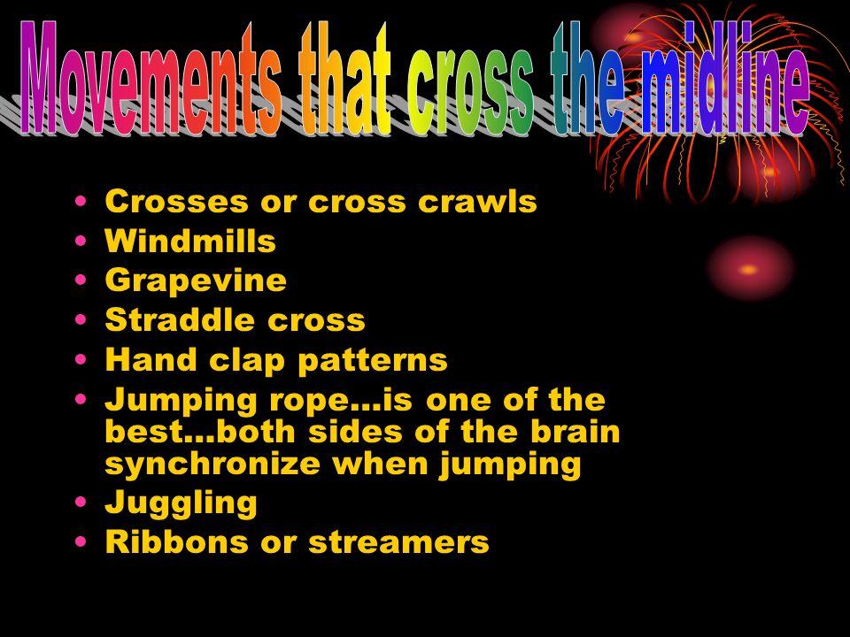 Movements that cross the midline