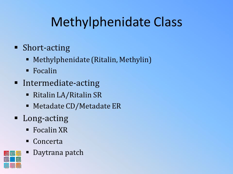 Methylphenidate Class