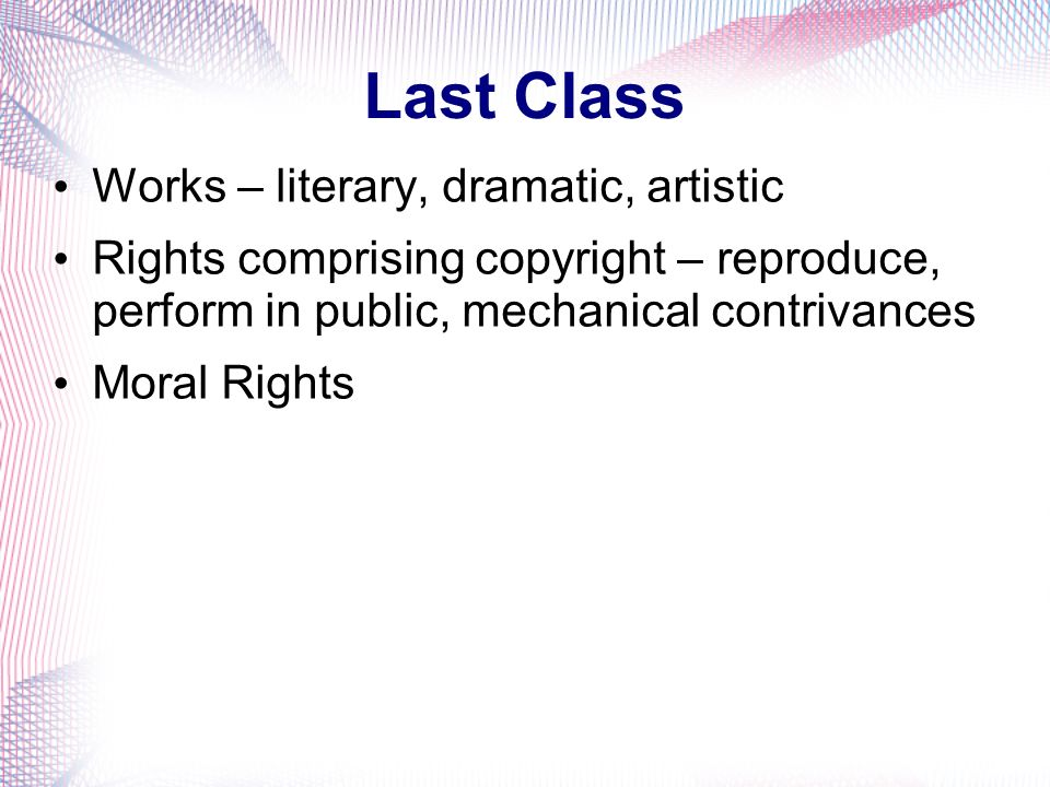 Last Class Works – literary, dramatic, artistic