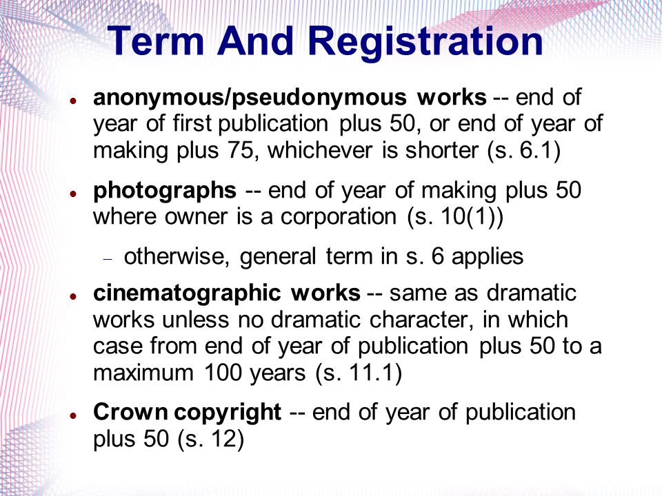 Term And Registration