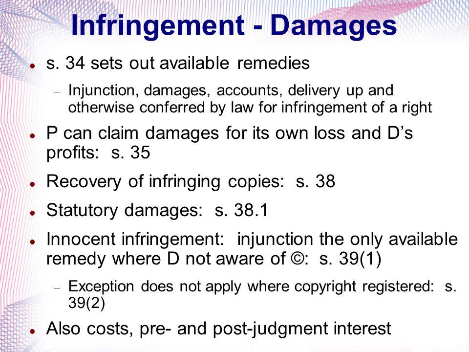 Infringement - Damages
