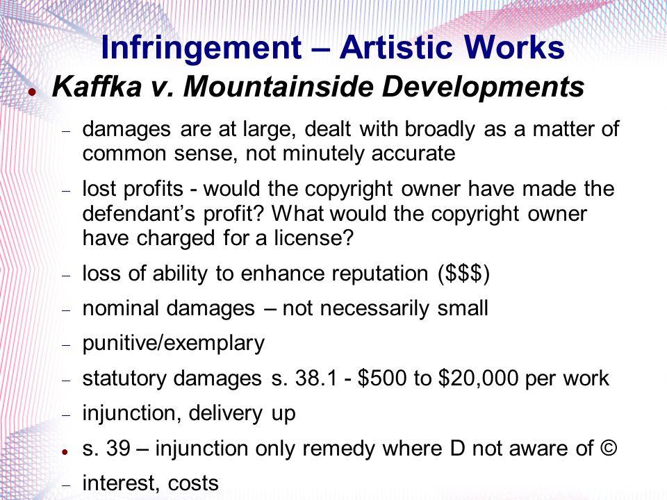 Infringement – Artistic Works