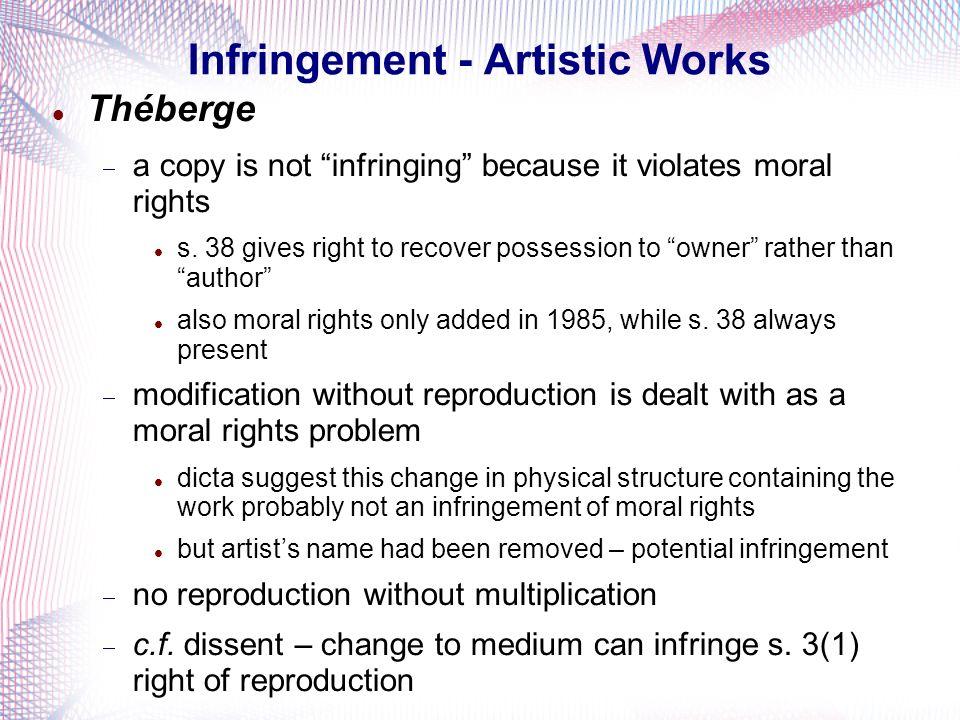 Infringement - Artistic Works
