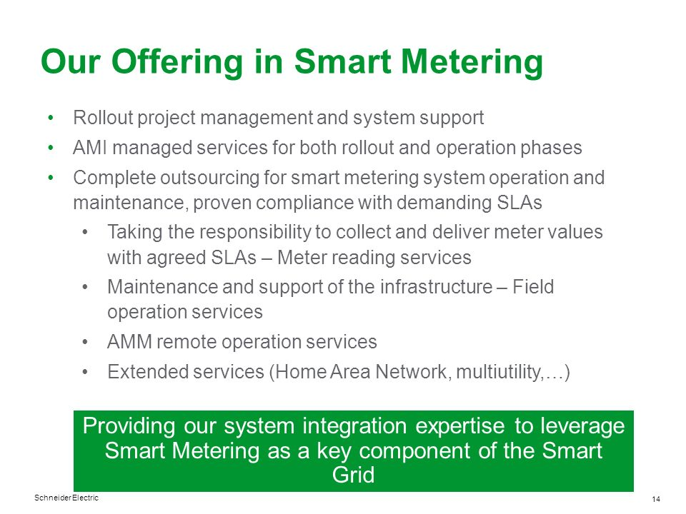 Our Offering in Smart Metering