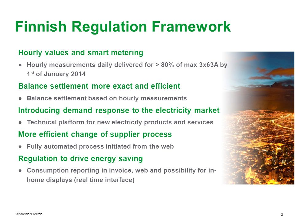 Finnish Regulation Framework