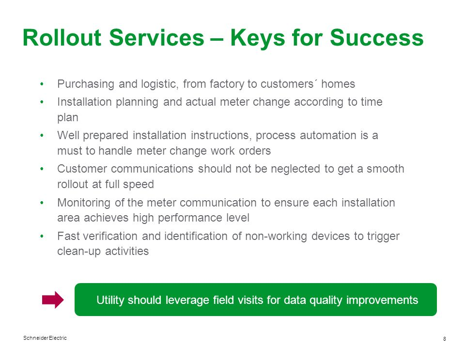 Rollout Services – Keys for Success