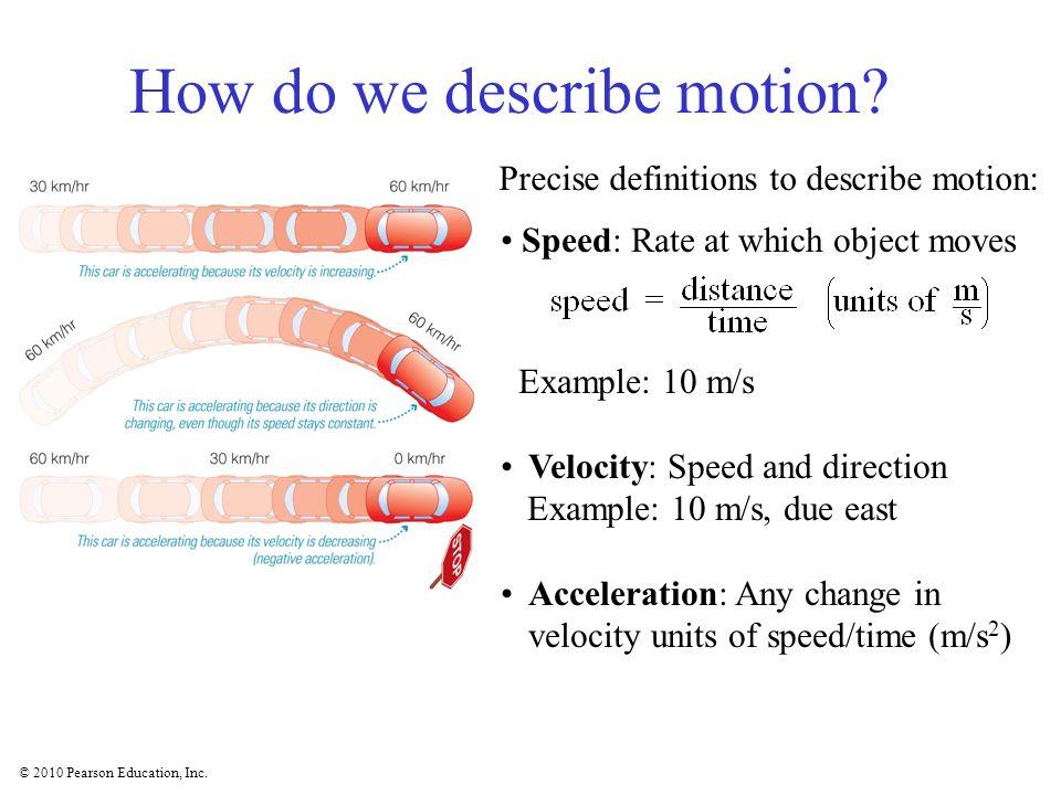 How do we describe motion