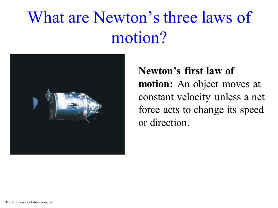 What are Newton's three laws of motion