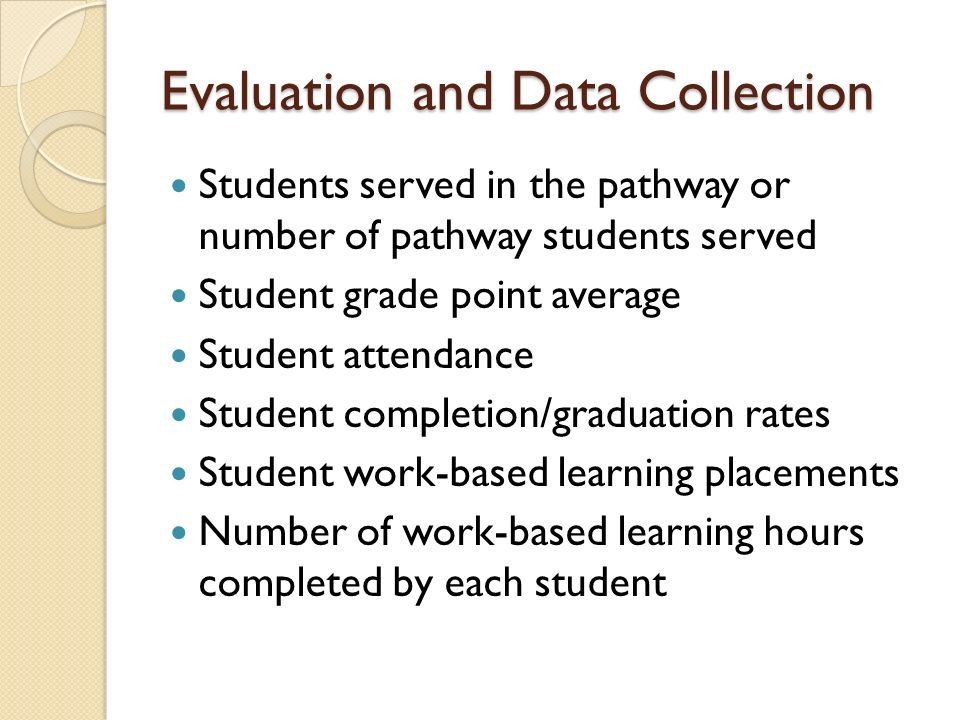 Evaluation and Data Collection
