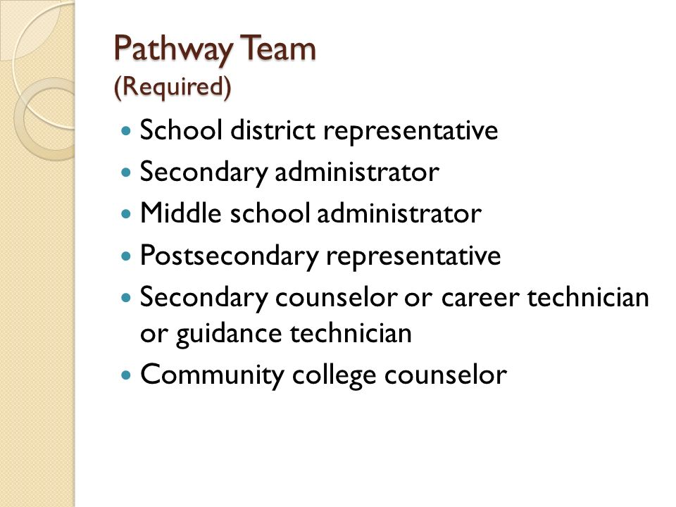 Pathway Team (Required)