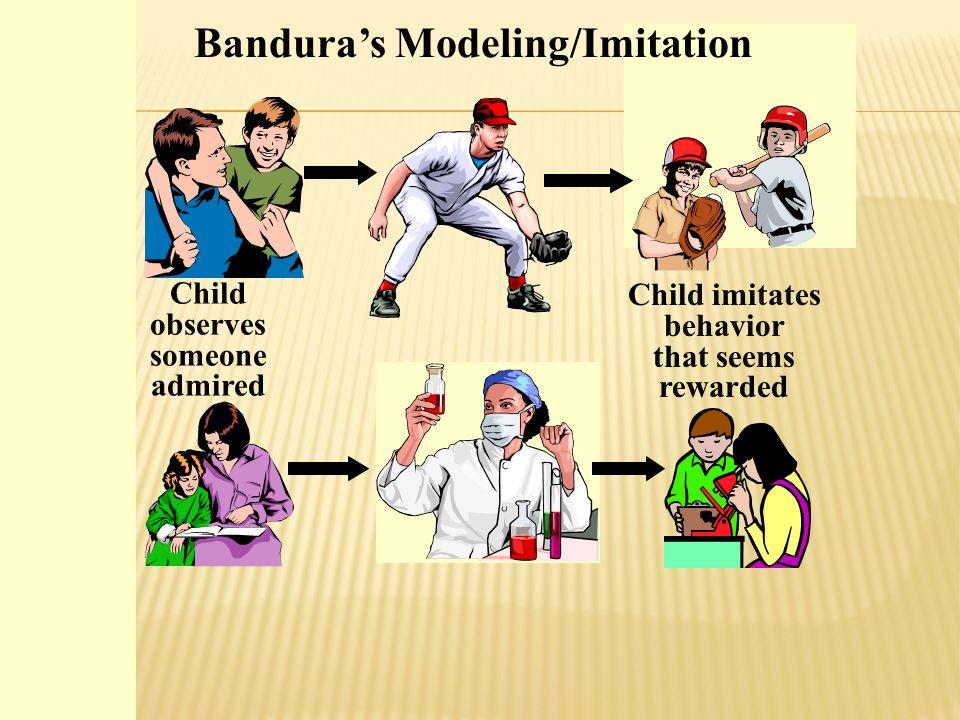 Child imitates behavior