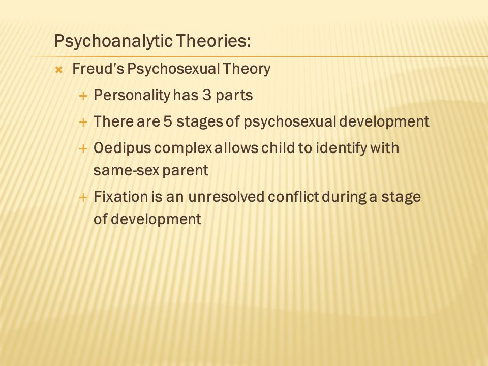 Psychoanalytic Theories: