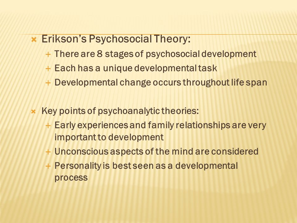 Erikson's Psychosocial Theory: