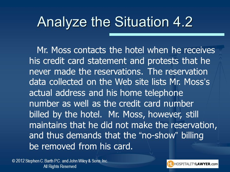 Analyze the Situation 4.2