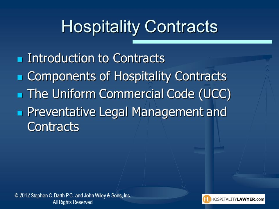 Hospitality Contracts