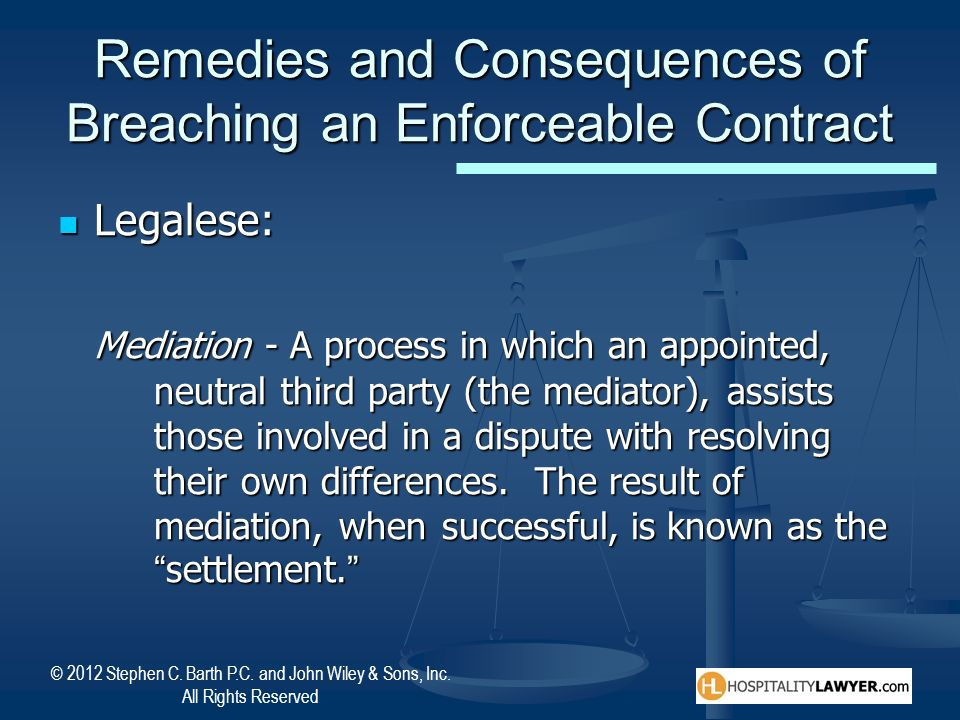 Remedies and Consequences of Breaching an Enforceable Contract