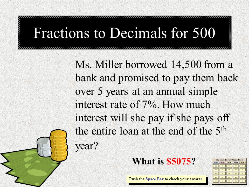 Fractions to Decimals for 500