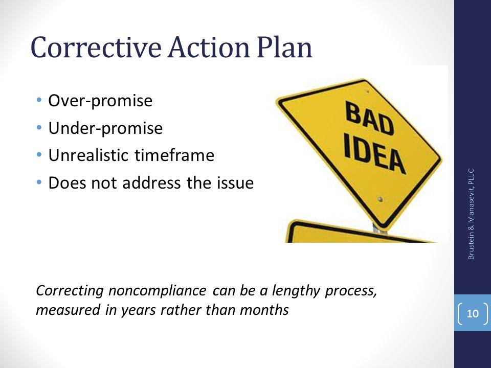 Corrective Action Plan