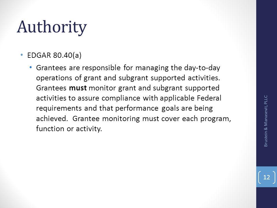 Authority EDGAR 80.40(a)