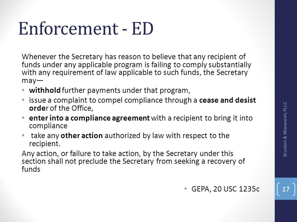 Enforcement - ED