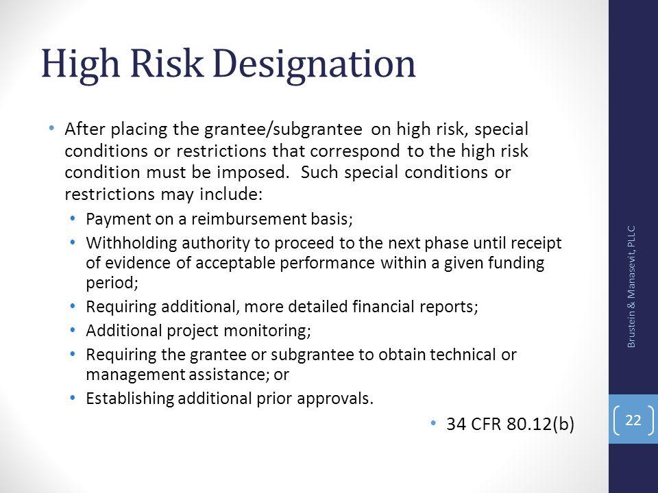 High Risk Designation