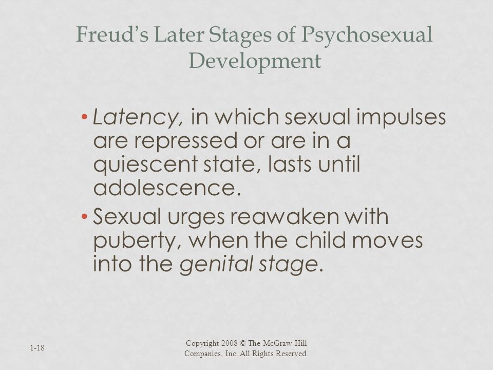 Freud's Later Stages of Psychosexual Development