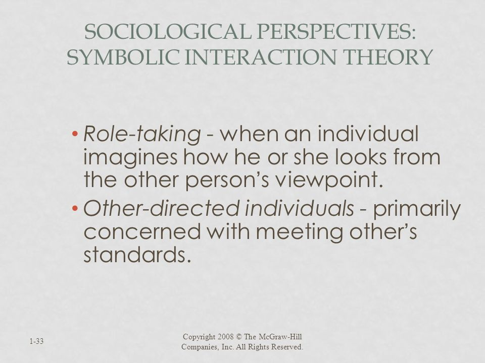 Sociological Perspectives: Symbolic Interaction Theory