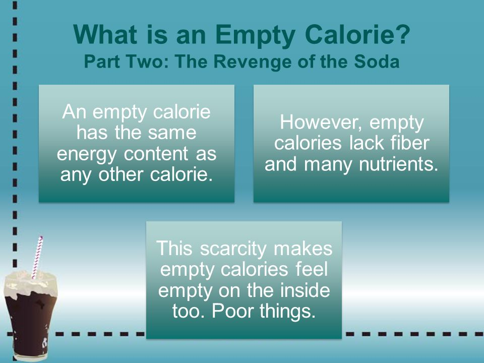 What is an Empty Calorie Part Two: The Revenge of the Soda