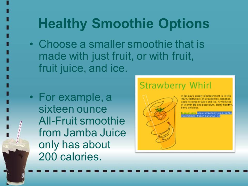 Healthy Smoothie Options