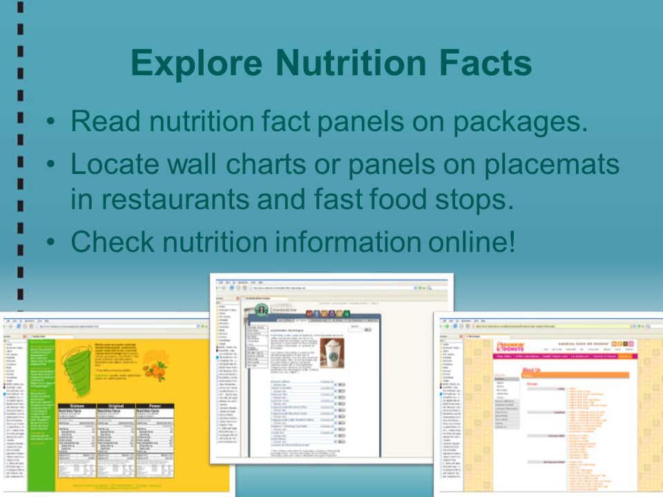 Explore Nutrition Facts
