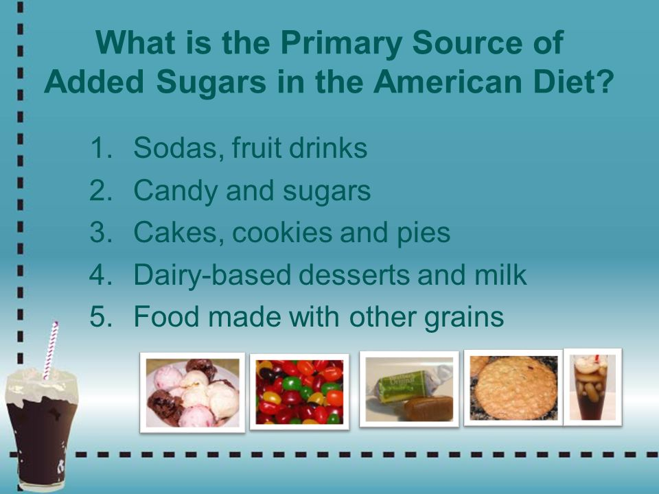 What is the Primary Source of Added Sugars in the American Diet
