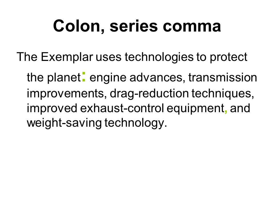Colon, series comma