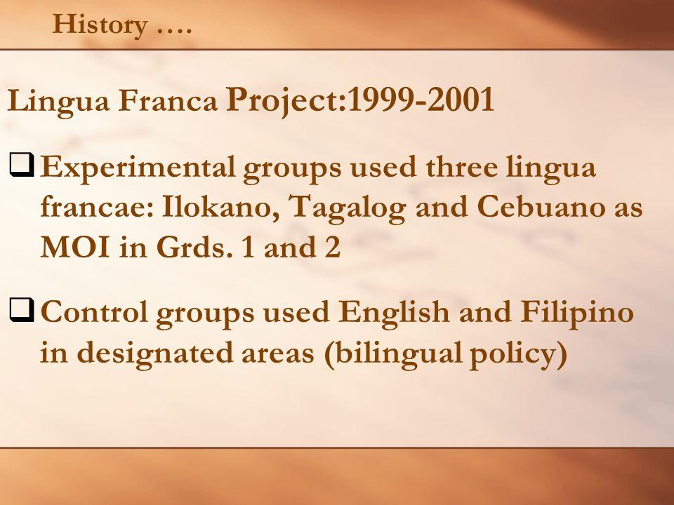 Lingua Franca Project:1999-2001