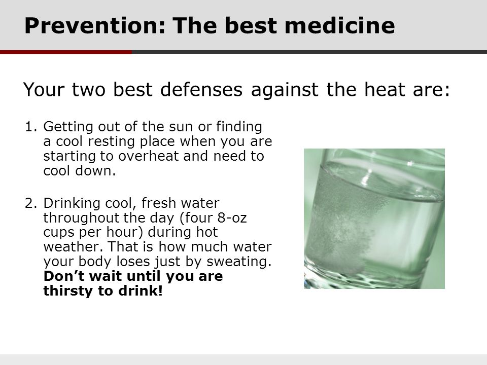Prevention: The best medicine