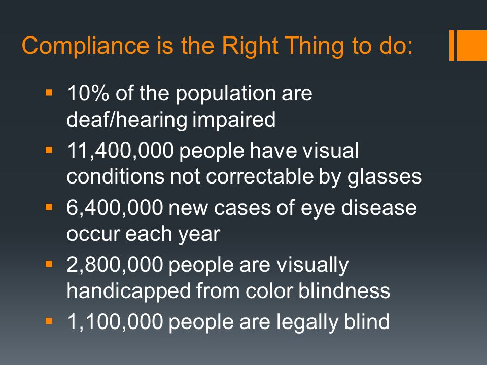 Compliance is the Right Thing to do: