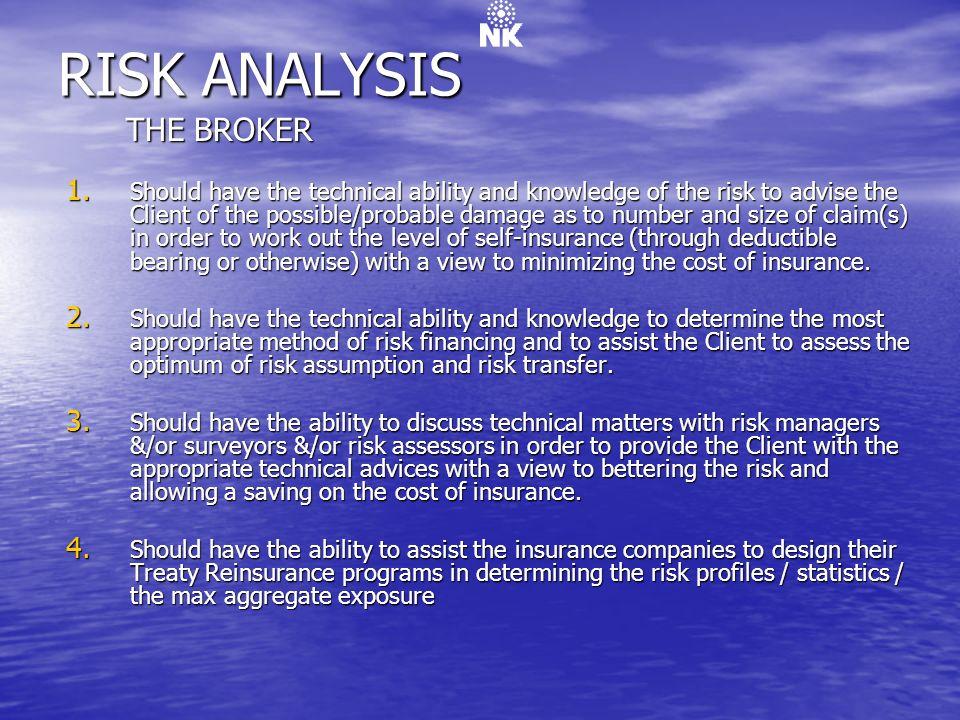 RISK ANALYSIS THE BROKER