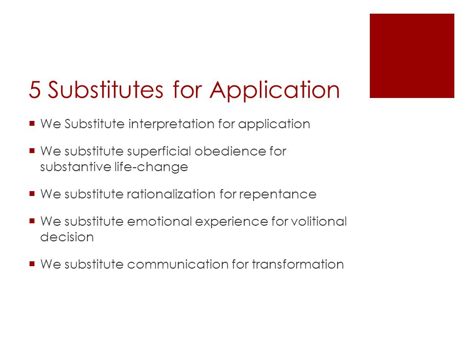 5 Substitutes for Application